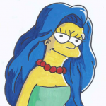 how to draw marge simpson