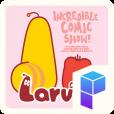 핑크빛 애벌레 라바의 코믹쇼 런처플래닛 테마