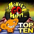 Monkey GO Happy Top Ten Games