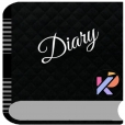 Black Diary with Password Lock