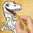어떻게 그리는 방법 : 귀여운 공룡